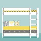 Illustrazione di vettore con la camera da letto del bambino Fotografia Stock