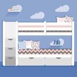 Illustrazione di vettore con la camera da letto del bambino Immagine Stock Libera da Diritti