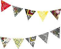 Illustrazione di vettore con le bandiere di festa illustrazione vettoriale