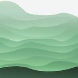 Illustrazione di vettore con le colline verdi Fotografia Stock Libera da Diritti