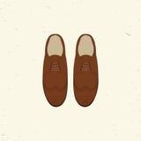 Illustrazione di vettore con le scarpe di modo degli uomini Immagini Stock