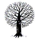 Illustrazione di vettore con un albero Fotografia Stock Libera da Diritti