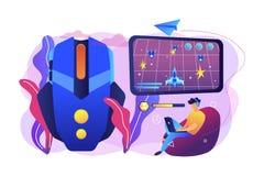 Illustrazione di vettore di concetto del gioco di azione royalty illustrazione gratis