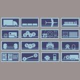 Illustrazione di vettore, consistente di 12 icone illustrazione vettoriale