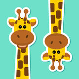 Illustrazione di vettore - coppia delle giraffe - animali selvatici - Africa - zoo Fotografia Stock Libera da Diritti