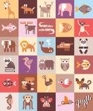 Illustrazione di vettore degli animali dello zoo Fotografie Stock