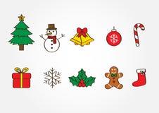 Illustrazione di vettore degli elementi di Natale Fotografie Stock