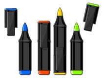 Illustrazione di vettore degli indicatori di colore Immagini Stock