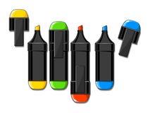 Illustrazione di vettore degli indicatori di colore Fotografia Stock
