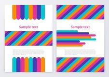 Illustrazione di vettore degli opuscoli di colore Immagini Stock