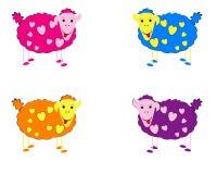 Illustrazione di vettore degli sheeps Fotografie Stock