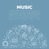 Illustrazione di vettore degli strumenti musicali royalty illustrazione gratis