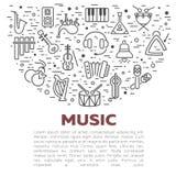Illustrazione di vettore degli strumenti musicali Fotografie Stock