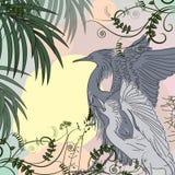 Illustrazione di vettore degli uccelli dell'airone Fotografie Stock