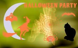 Illustrazione di vettore dei caratteri per avere un partito di Halloween Fotografia Stock
