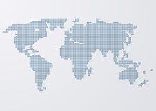 Illustrazione di vettore dei cerchi di una mappa di mondo Immagini Stock Libere da Diritti