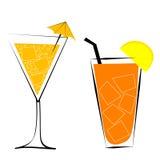 Illustrazione di vettore dei cocktail Fotografia Stock