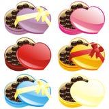 Illustrazione di vettore dei contenitori di cioccolato del regalo Fotografia Stock Libera da Diritti
