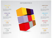 Illustrazione di vettore dei cubi astratti 3d illustrazione di stock