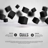 Illustrazione di vettore dei cubi 3d illustrazione vettoriale