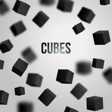 Illustrazione di vettore dei cubi 3d Immagine Stock
