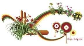 Illustrazione di vettore dei fiori illustrazione di stock