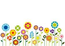 Illustrazione di vettore dei fiori dei cuori Immagini Stock