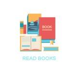 Illustrazione di vettore dei libri Immagini Stock Libere da Diritti