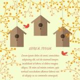 Illustrazione di vettore dei nidi per deporre le uova Immagini Stock Libere da Diritti
