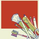 Illustrazione di vettore dei prodotti di bellezza Fotografie Stock