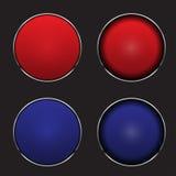 Illustrazione di vettore dei pulsanti Fotografia Stock
