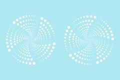 Illustrazione di vettore dei punti radiali Fotografia Stock