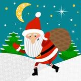 Illustrazione di vettore del Babbo Natale Illustrazione puerile per i bambini manifesto, cartolina, copertura Fotografie Stock