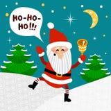 Illustrazione di vettore del Babbo Natale Illustrazione puerile per i bambini manifesto, cartolina, copertura Fotografia Stock