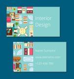 Illustrazione di vettore del biglietto da visita di interior design Fotografia Stock