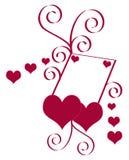 Illustrazione di vettore del biglietto di S. Valentino del cuore Fotografie Stock