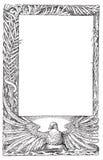 Illustrazione di vettore del blocco per grafici della piuma della colomba di pace illustrazione di stock