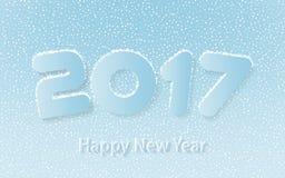 Illustrazione di vettore del buon anno 2017 illustrazione di stock