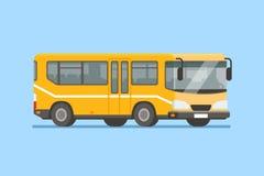 Illustrazione di vettore del bus della città nello stile piano moderno Fotografia Stock Libera da Diritti