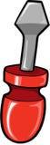 Illustrazione di vettore del cacciavite Fotografia Stock