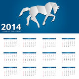 illustrazione di vettore del calendario da 2014 nuovi anni Fotografie Stock Libere da Diritti