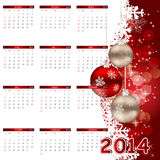 illustrazione di vettore del calendario da 2014 nuovi anni Fotografia Stock Libera da Diritti