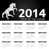 illustrazione di vettore del calendario da 2014 nuovi anni Immagine Stock