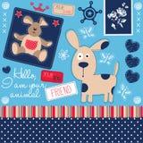 Illustrazione di vettore del cane e del coniglietto Immagini Stock Libere da Diritti