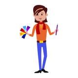Illustrazione di vettore del carattere del progettista illustrazione di stock