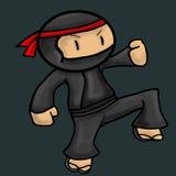 Illustrazione di vettore del carattere di Ninja Fotografia Stock