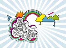 Illustrazione di vettore del cielo Fotografia Stock Libera da Diritti