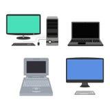 Illustrazione di vettore del computer Immagine Stock