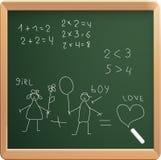 Illustrazione di vettore del consiglio scolastico Immagini Stock