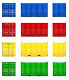Illustrazione di vettore del contenitore di carico Fotografie Stock Libere da Diritti